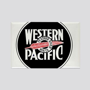 Round Western Pacific logo Magnets