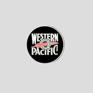 Round Western Pacific logo Mini Button