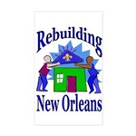 Rebuilding New Orleans Rectangle Sticker