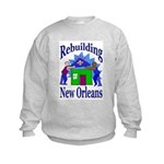 Rebuilding New Orleans Kids Sweatshirt