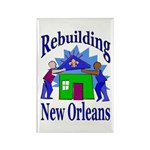Rebuilding New Orleans Rectangle Magnet (10 pack)