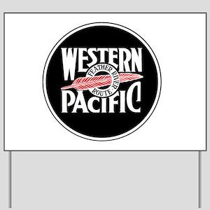 Round Western Pacific logo Yard Sign