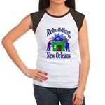 Rebuilding New Orleans Women's Cap Sleeve T-Shirt