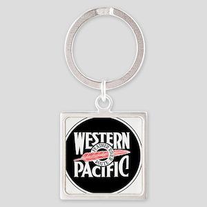 Round Western Pacific logo Keychains