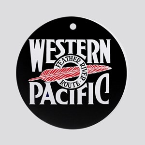 Round Western Pacific logo Round Ornament