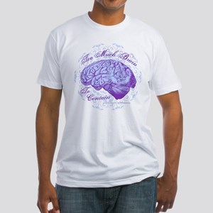 Too Much Brain to Contain Fitted T-Shirt