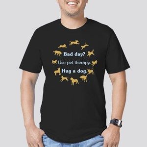Pet Therapy Men's Fitted T-Shirt (dark)