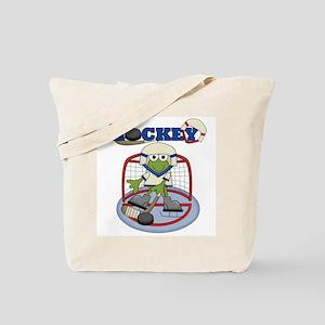 Frog Hockey Tote Bag