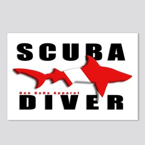 Scuba Diver: SHARK Postcards (Package of 8)