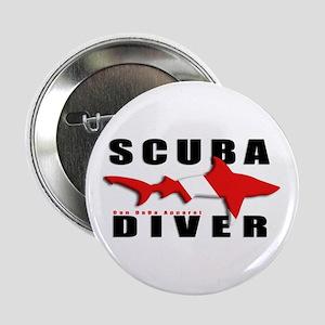 "Scuba Diver: SHARK 2.25"" Button"