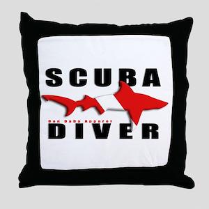 Scuba Diver: SHARK Throw Pillow