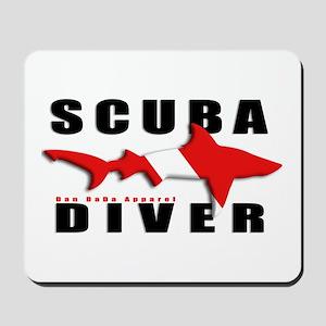 Scuba Diver: SHARK Mousepad