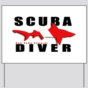 Scuba Diver: SHARK Yard Sign