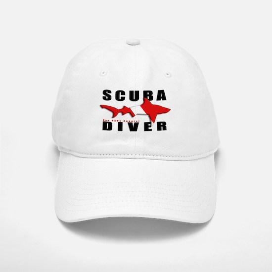 Scuba Diver: SHARK Baseball Baseball Cap