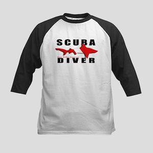 Scuba Diver: SHARK Kids Baseball Jersey