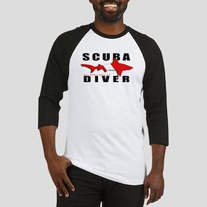 Scuba Diver: SHARK Baseball Jersey