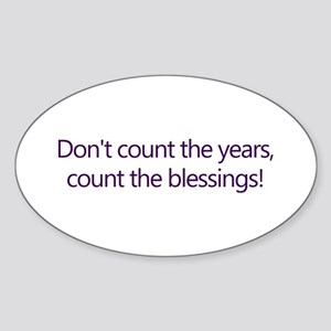 Count the Blessings Oval Sticker