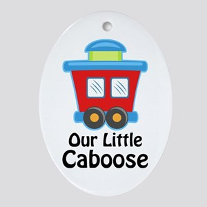 Our Little Caboose Oval Ornament