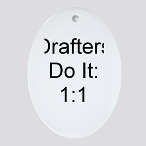 Drafters Oval Ornament