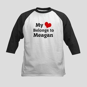 My Heart: Meagan Kids Baseball Jersey
