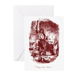 The Ghost of Christmas Presen Greeting Cards (Pk o