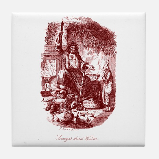 The Ghost of Christmas Presen Tile Coaster