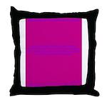 Write-In Buday Throw Pillow