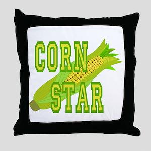 Corn Dog Throw Pillow