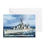 USS ALFRED A. CUNNINGHAM Greeting Card