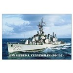 USS ALFRED A. CUNNINGHAM Large Poster