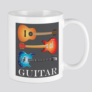 3 Guitars on Dark Gray Mug