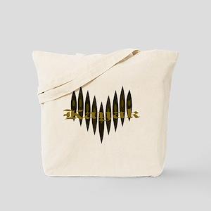 A Kayaker's Heart Tote Bag