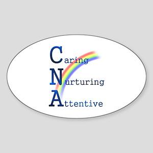 CNA Rainbow Oval Sticker