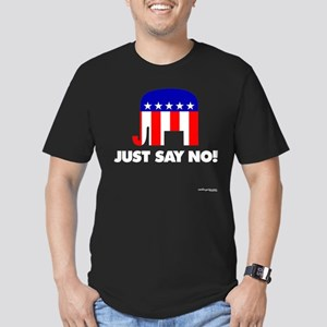 Just Say No - Men's Fitted T-Shirt (dark)