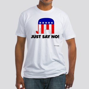 Just Say No - Fitted T-Shirt
