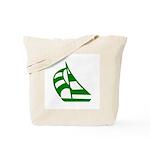 Green Sailboat Tote Bag