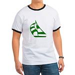 Green Sailboat Ringer T