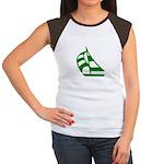 Green Sailboat Women's Cap Sleeve T-Shirt
