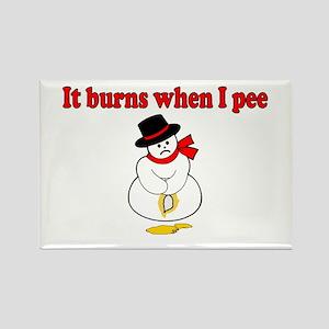 It Burns When I Pee Rectangle Magnet