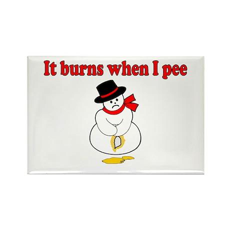 It Burns When I Pee Rectangle Magnet (10 pack)