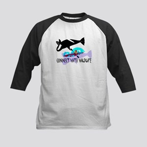 Connect With Wildlife Kids Baseball Jersey