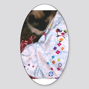 Maile's Louis Vuitton Cat Oval Sticker