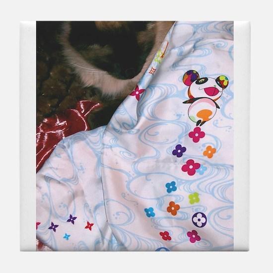 Maile's Louis Vuitton Cat Tile Coaster
