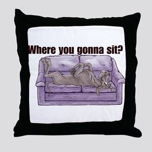 NBlu Where RU Throw Pillow