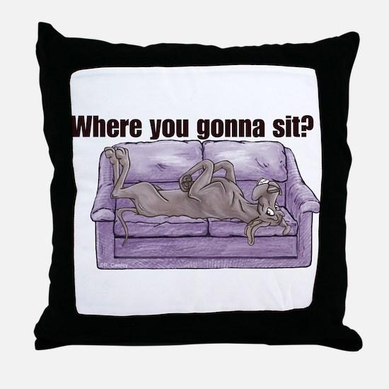 NBlu Where RU Throw Pillow