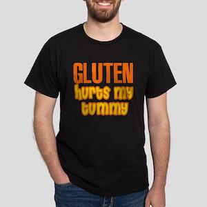 Gluten Hurts My Tummy Dark T-Shirt
