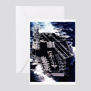 CVN 69 Ship's Image Greeting Cards (Pk of 10)