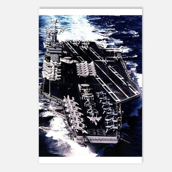 CVN 69 Ship's Image Postcards (Package of 8)