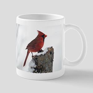 Cardinal on stump Mug