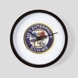 USS Enterprise CVN 65 Wall Clock